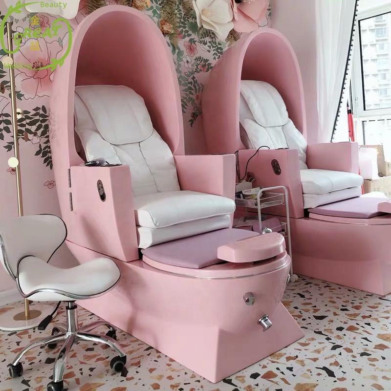 Great Foshan Factory Modern Cheap Spa Luxury Massage Pink For Kids Pedicure Chair Manufacturers