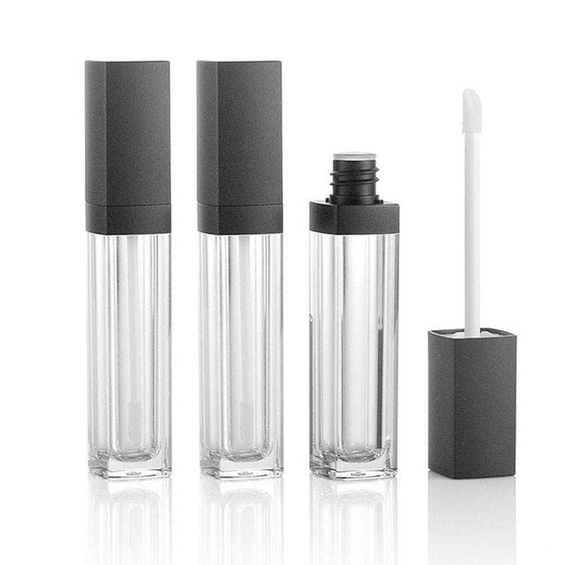 5ml 8ml 10ml Custom Lip Gloss Container Empty Lipgloss Lipstick Packaging Tube Plastic Square Clear Lip Gloss Tubes With Wands