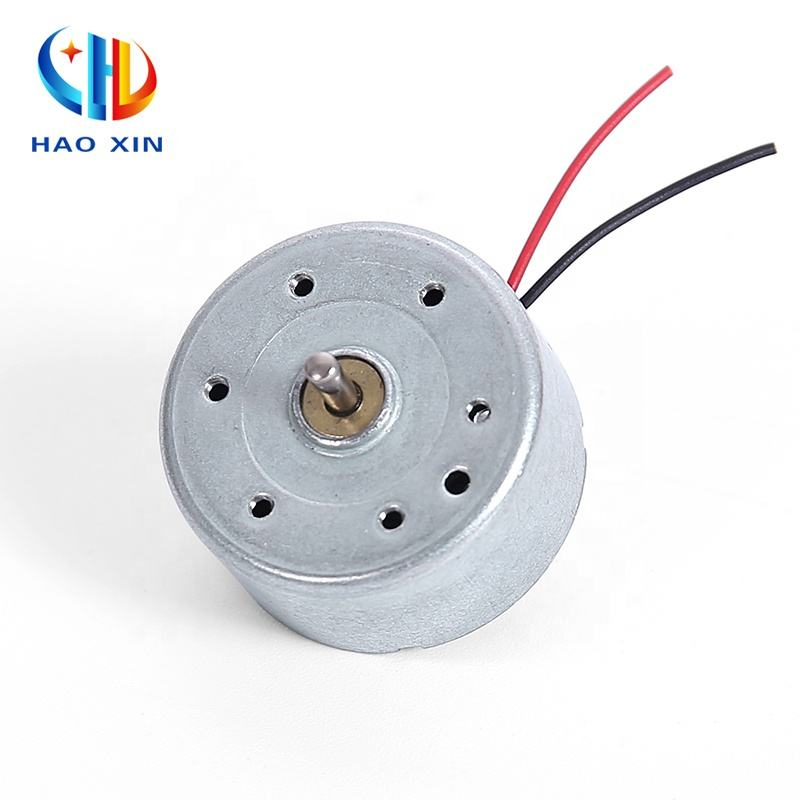 Home appliance use 24.4mm small round carton brush rf 300 micro electric dc motor