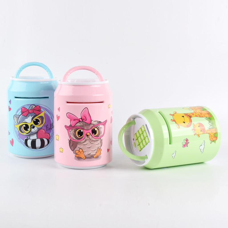 High quality money box toy mini atm machine cartoon piggy bank with password and light music for kids