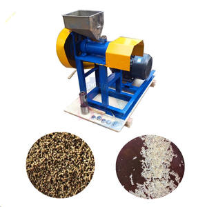 Household small dog food puffing machine Aquatic animal feed extruder shrimp making machine floating fish pellet mill machine