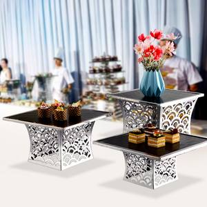 OKEY Arab catering equipment Importing buffet elevation restaurant monitor dessert food display buffet risers stand