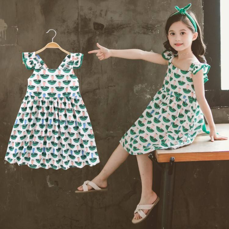 Aselnn Dresses for Girls Sleeveless Vetement Children Girl Casual Style Children Dress Teenage Girls Clothes 6 8 10 12 Year