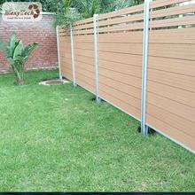 teak composite wood ranch fence panels /aluminium wood trellis fence