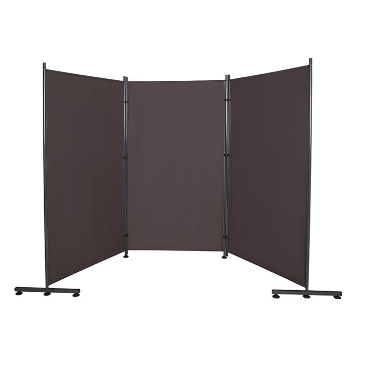 OEM fabric upholstered mobile room dividers new design 3 panel fixed room divider