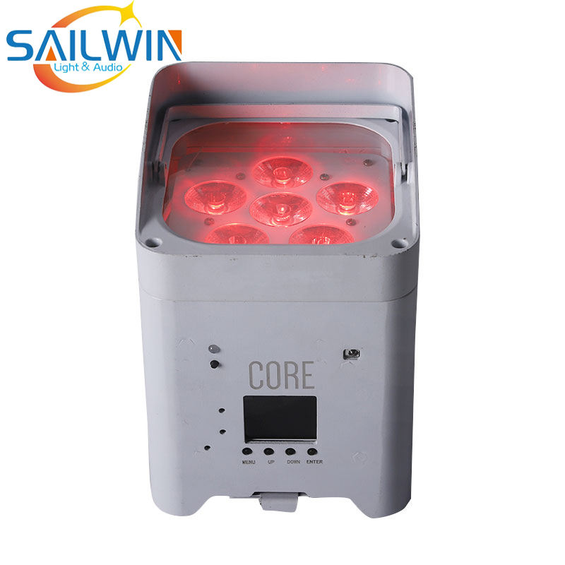 6pcs 18W 6in1 RGBAW UV Cellulare Smart Battery Operated Wifi HA CONDOTTO LA Luce Par DJ Illuminazione Per Club Evento