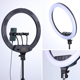 Phone Clip Holder Custom Dimmable Selfie Led Ring Light 18 inch With Tripod Stand For Makeup Live Stream Youtube Video Tiktok