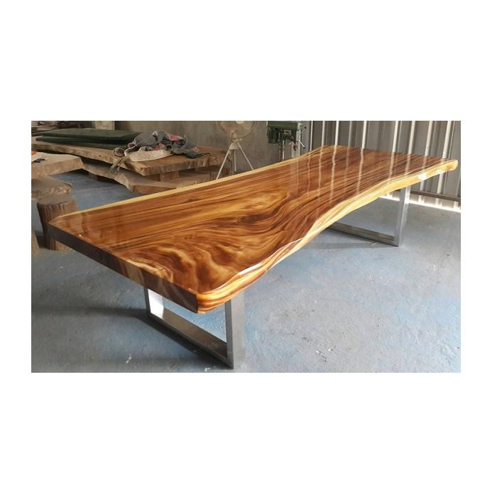 VIETNAM gold supplier high quality live edge acacia slabs wood dining table top