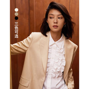 naivee autumn new style woman camel suit coat for business lady