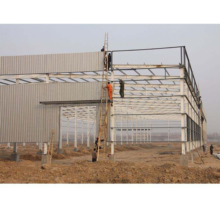 Galvanized Flat Roof Prefabricated Steel Building