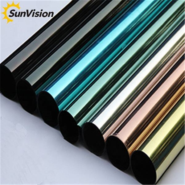 Window film manufacturer one way vision privacy protection building window decor stickers foil tinted reflective solar film