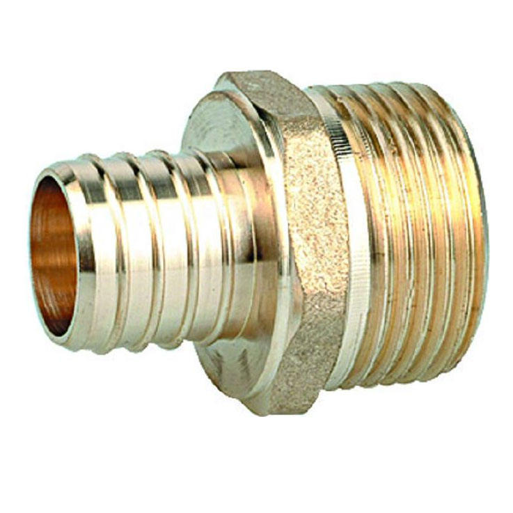equal swivel pex crimp fitting in brass for plumbing and pipe