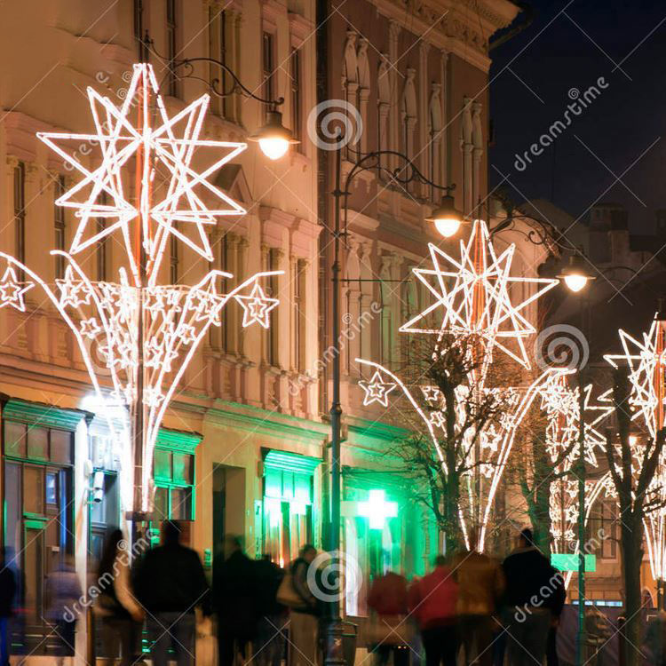 Led Street Decoration Hanging Electric Pole Motif Light Christmas