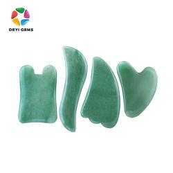 GuaSha Green Aventurine 3 in 1 Custom Engraved Gua Sha Set For Scraping Body