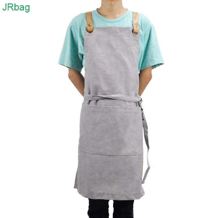Custom 12OZ Canvas Cowboy Masterchef Blank Bulk Carpenter Work Chefs Bakers Barbecue Grilling Cafe Apron With pocket