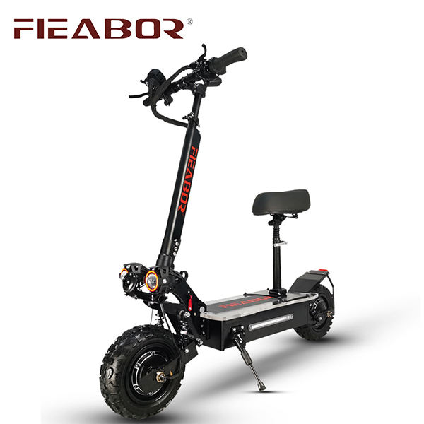 Electric Scooter 3200 Watt Dual Motors Foldable Upgraded Version Standing Adult Scooter with Seat