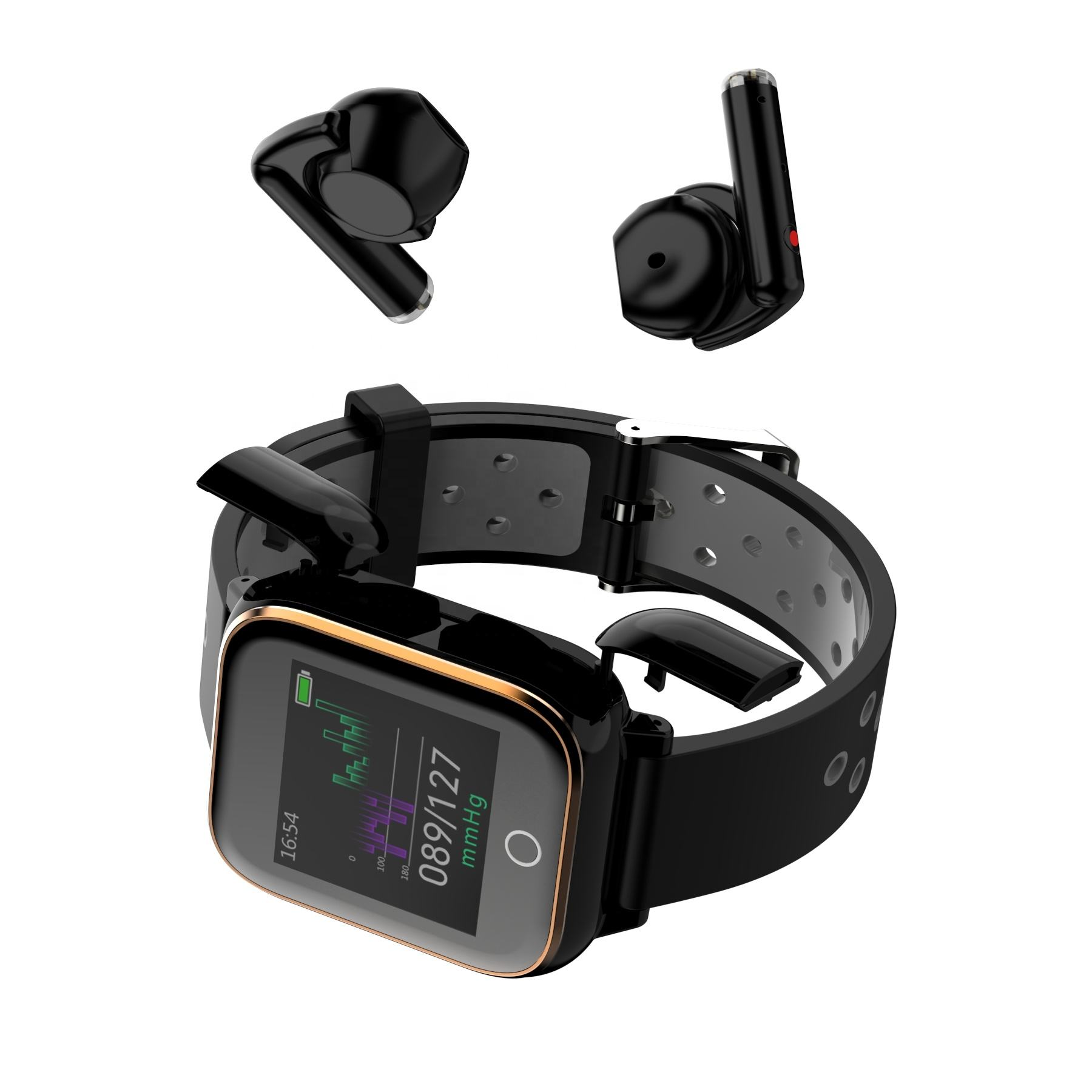 2020 New Smart Watches Earbuds Heart Rate Watch Smart Wristband Sports Watches Smart Earbuds For Phone