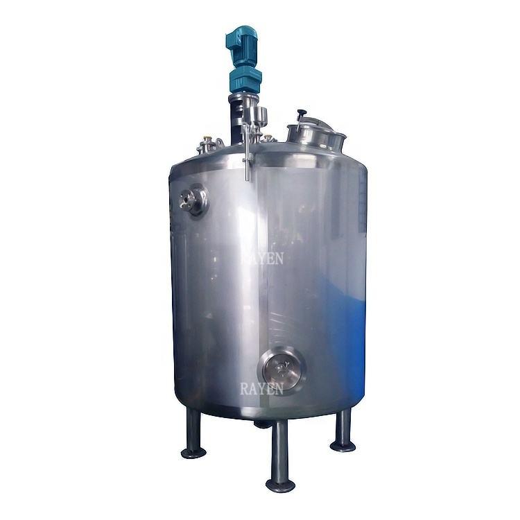 SUS304 or 316L stainless steel vessel steam jacket mixing vessel vertical pressure vessel