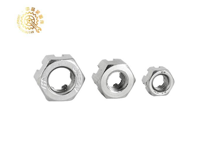 Din 935 carbon steel hex Castle Nut Slotted Nut chinese nuts