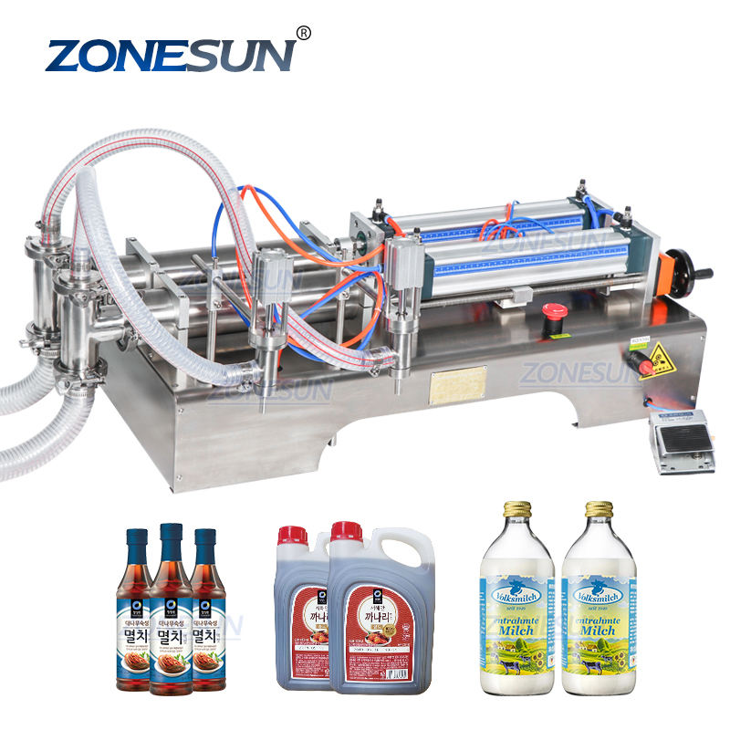 ZONESUN Fully Pneumatic Alcohol Hand Sanitizer Gel Liquid Soap Bottle Dispenser Filling Machine