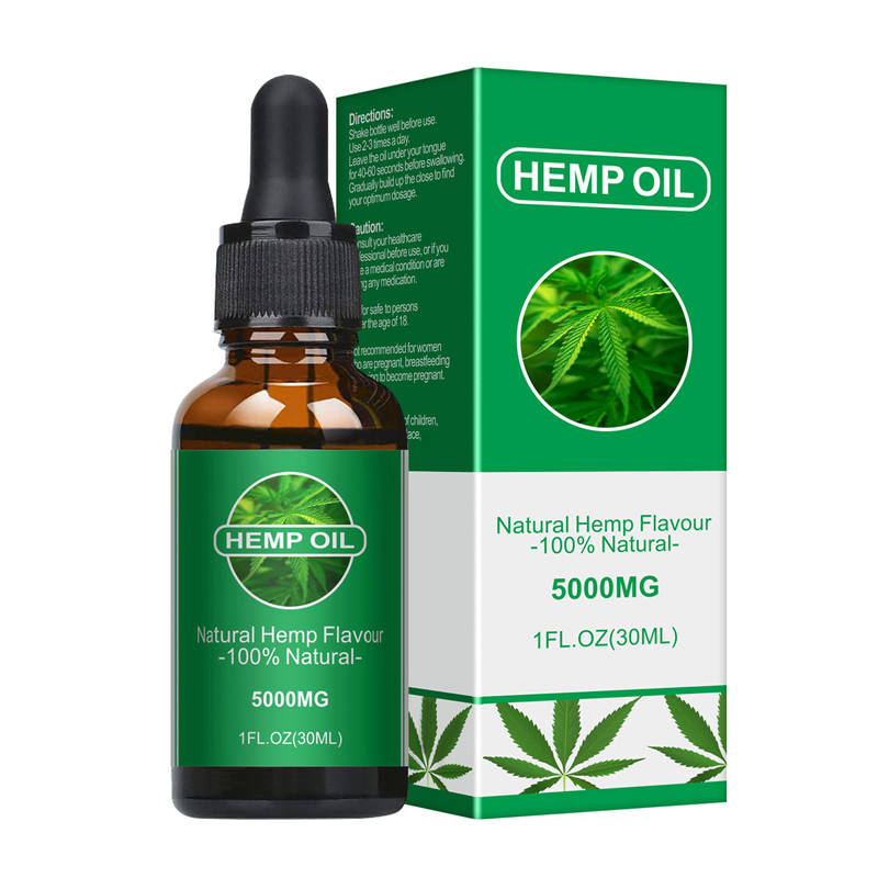 100% Natural and Organic Extract Hemp Seed Oil 5000mg 30ml herbal drops relieve stress help sleep