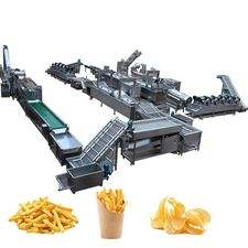 Manufacturing Frying Production Line Fresh Frozen French Fries Sticks Fully Automatic Lays Potato Chips Making Machine Price