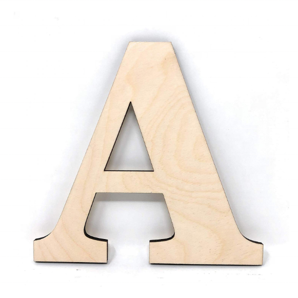 Customized Wood Home Decorative Letters A 26 Letters Wooden Alphabet Wall Letter for Bedroom