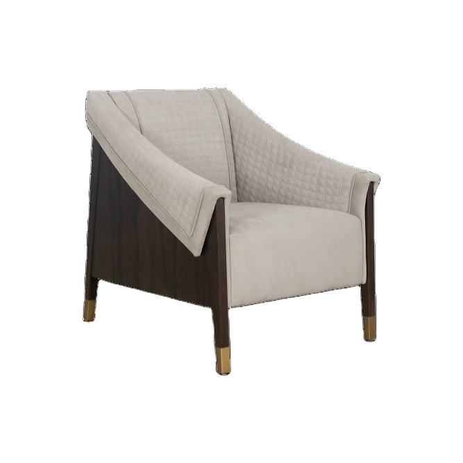 Living Room bed Room Hotel Furniture Accent Leisure Fabric Single Sofa Arm Chair