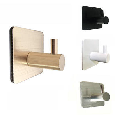 Hot Selling Self Adhesive Home Kitchen Aluminum Wall Door Hook Key Holder Rack Towel Hanger Bathroom Rack Hooks