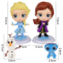 lanlu factory Disney Princess Character Figures Frozen Topper Cake Decoration PVC girls Toys Set of 4 pcs