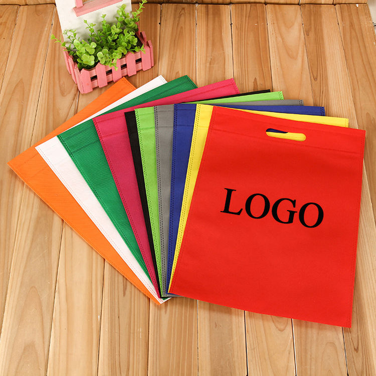 Wholesale Eco-Friendly Customized Promotional Non Woven Bag Customs Recycled Shopping Die Cut Non Woven Bag With Printing Logo