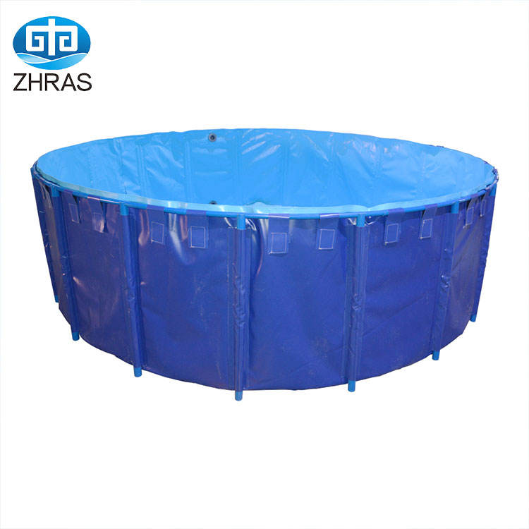 aquaculture fish farming tanks supplier for sale large aquaculture cylinder folding foldable fish farming tank