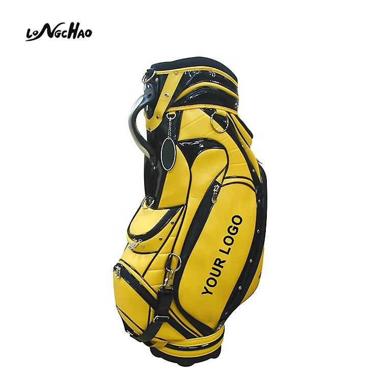 2020 hot selling custom leather waterproof staff golf bag