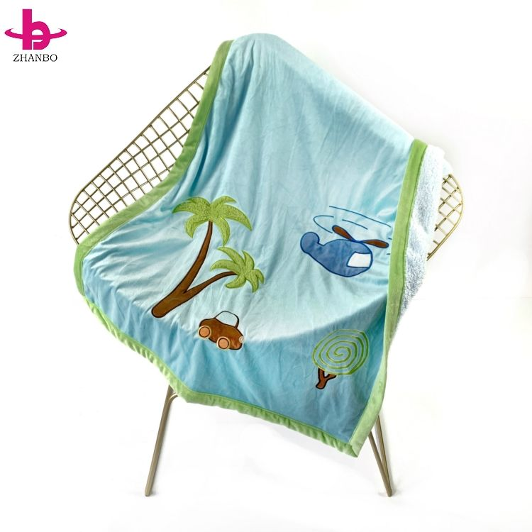 Japan Style Wholesale Double Layer Digital Print Minky Dot Baby Blanket