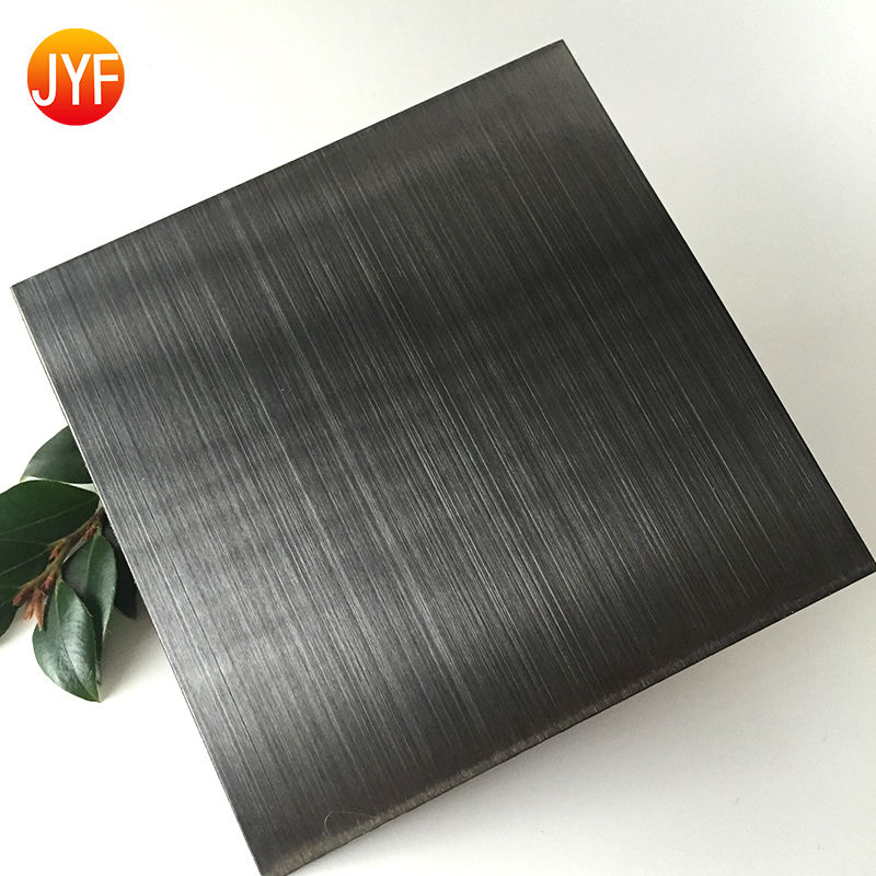 JYFM-11 Decoration plate 201 304 HL black color 4*8 stainless steel sheet