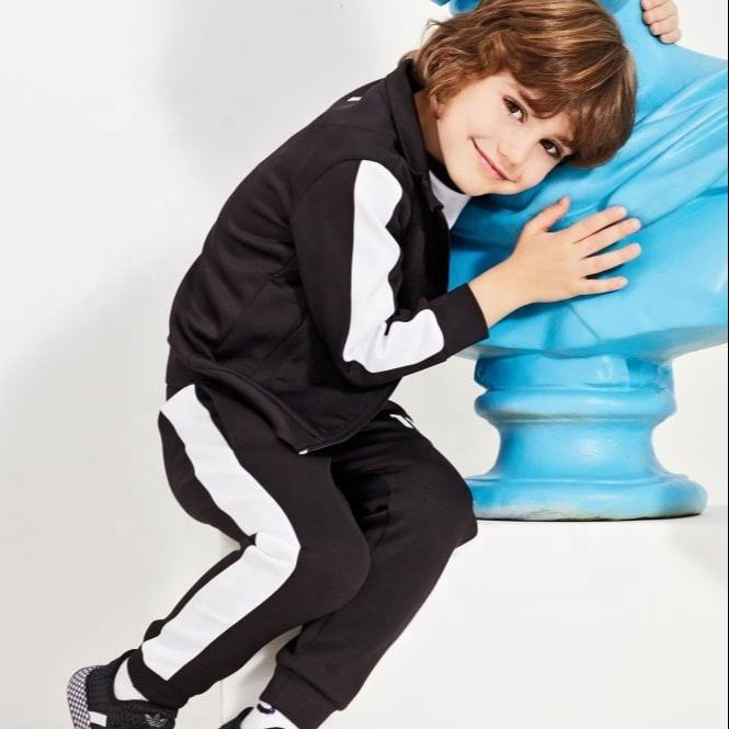 Whole Sale polyester athletic wear children 2 piece sets Track Suit kids sweat suits
