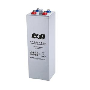 ESG long life solar deep cycle vrla 2V 1000Ah2000AH 3000AH OPzV gel tubular battery