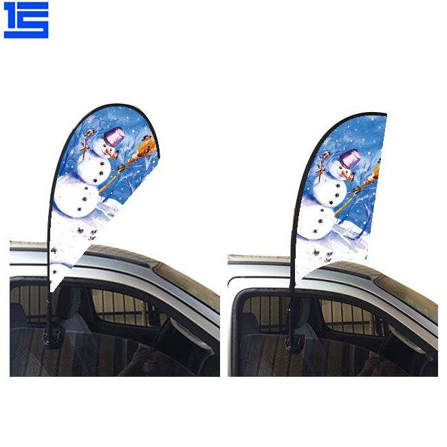 Party Sport Custom Print Car Bonnet Flame Retardant Sublimation 3D Dye Aluminum Blanks Garden Flag
