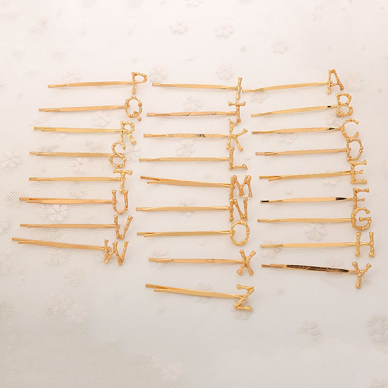 Manufacturers Supply All-match Popular Abcd Letter Word Hair Clip Hair Clips For Women