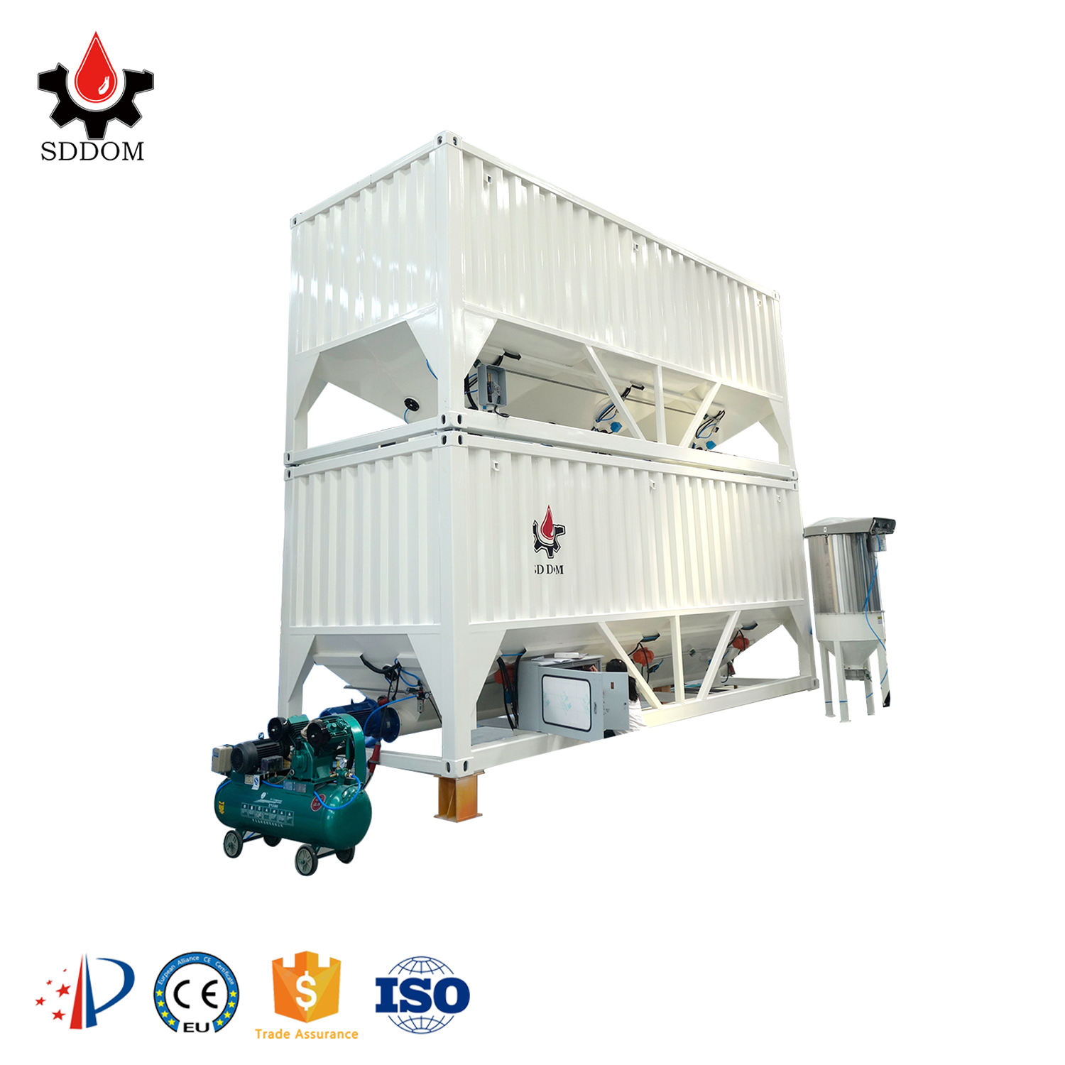 Horizontal stackable silo with high efficiency and good after-sale service