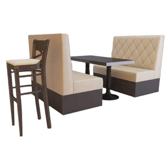 Custom Button Tufted Leather Restaurant Booth Restaurant Booth Tables Booth Seating Restaurant