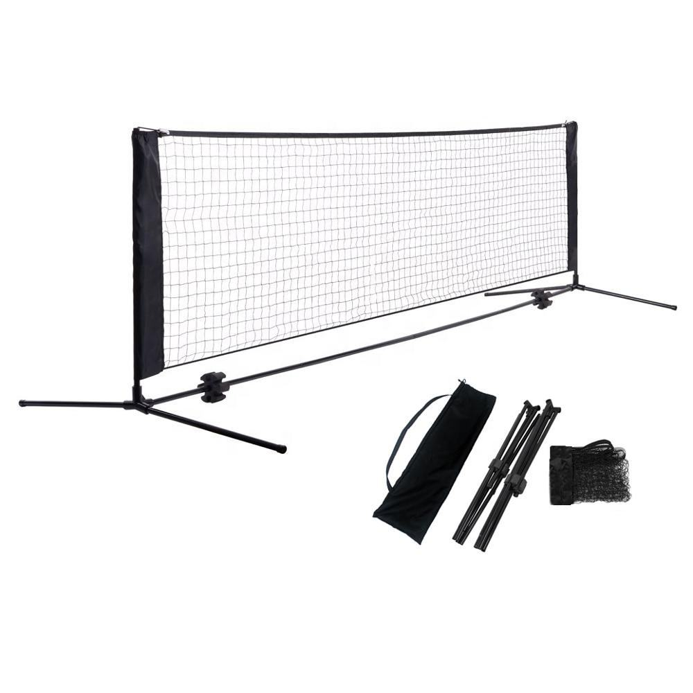 Factory Direct Sales High Quality 5M Folding Adjustable Height Portable Badminton Net And Training Tennis Net Stand