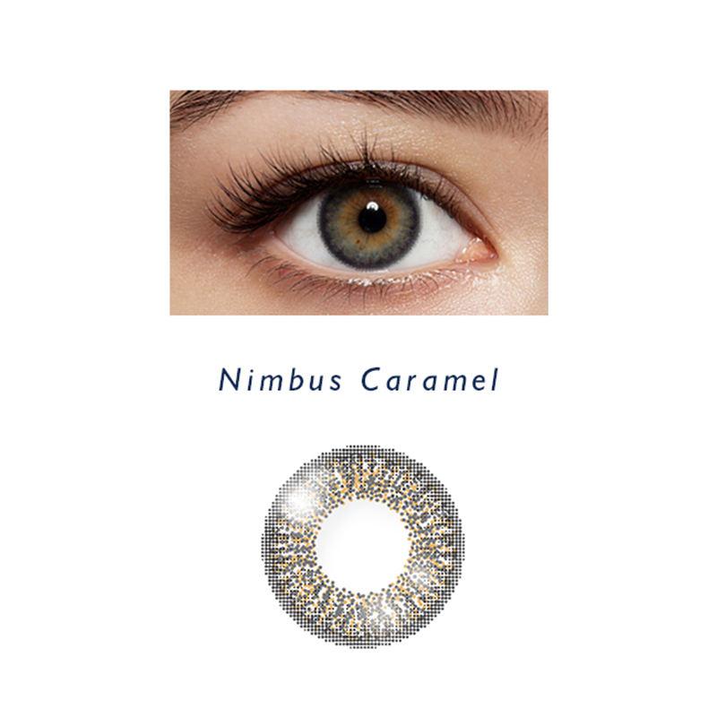 Elliecoo Nimbus Caramel <span class=keywords><strong>lentilles</strong></span> oculaires couleur <span class=keywords><strong>lentilles</strong></span> de contact mensuelles