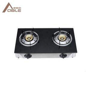 ABLE Home Use Double Burner Glass Top Gas Stove Burner