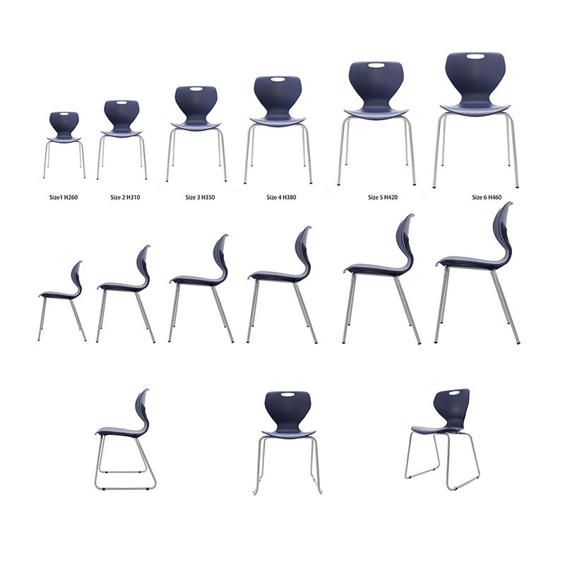Plastic Hot School Chair with Casters of School Furniture Table and Chair