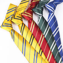 Students College Style School Boys Uniform Red Striped Ployster Necktie Harry Potter Ties