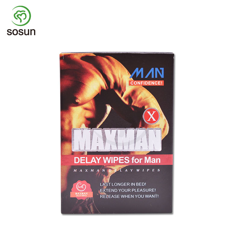 Single Pack Adult Delay Spray Sex Wipes Sex Products Man De;ay Time Wet Tissue for Man