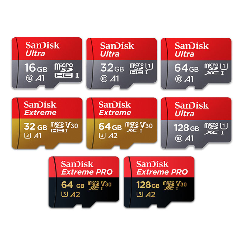 Grosir Asli SanDisk A1 Ultra Flash TF 256GB Micro Sd Kartu U3 Kartu Memori