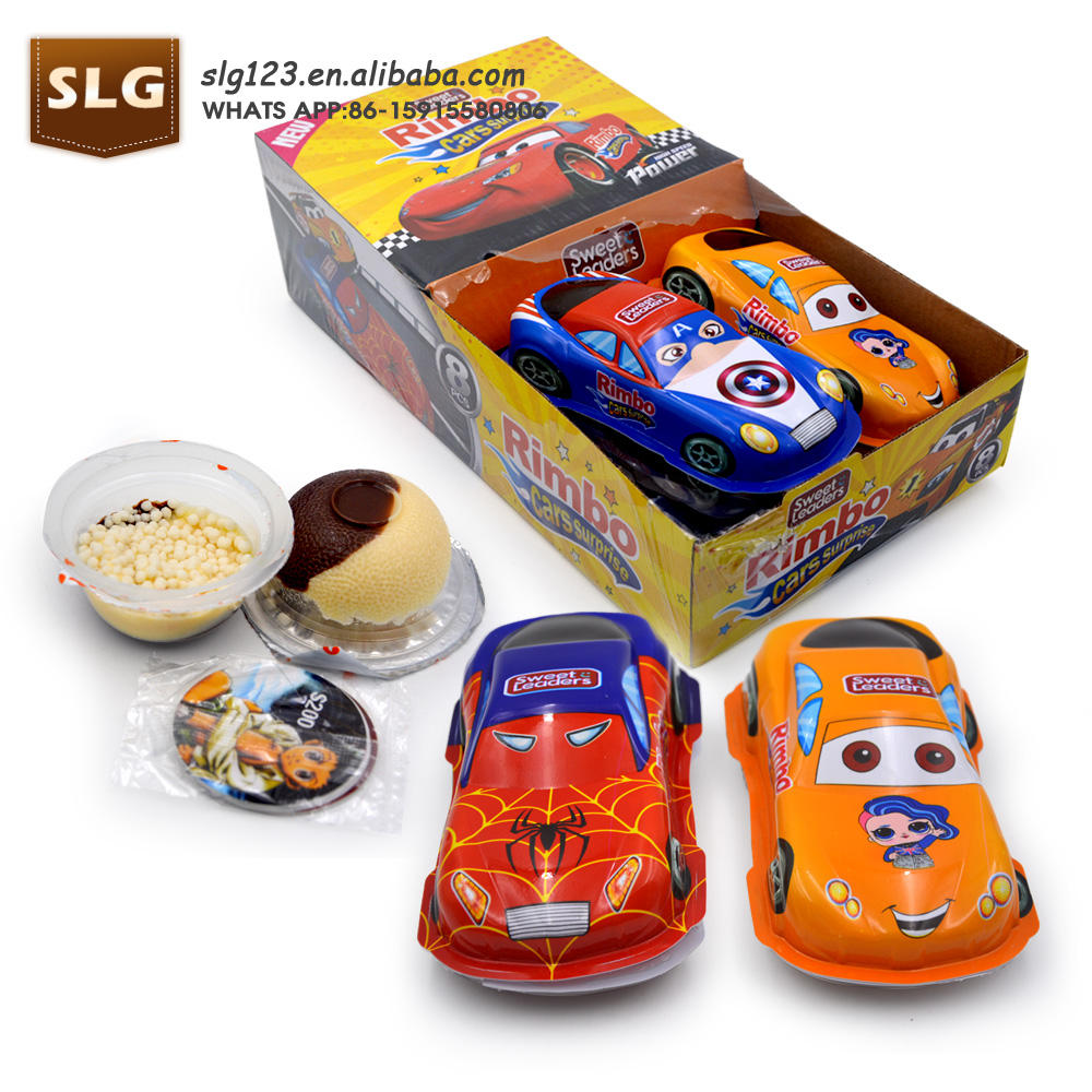 Car shape toy candy with chocolate biscuit