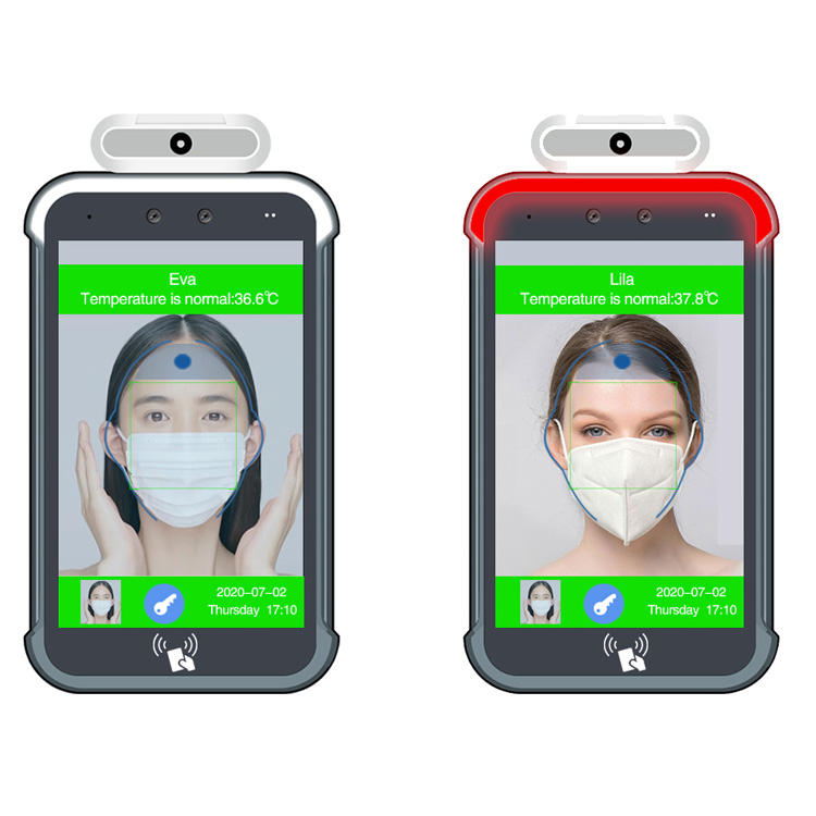 Hot Sale 8 Inch AI No Contact Recognition Camera Face Recognition Temperature Measurement